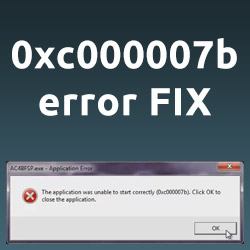 How to Fix 0xc000007b Application Error (Windows 7 64bit)