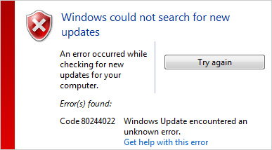 Windows Could Not Search For New Updates… How To Fix? (Windows 7