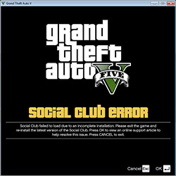 GTA V Social Club Error FIX