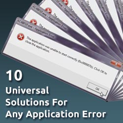Universal Quick-fix Solutions For Any Windows Application Error