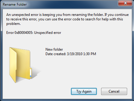 How to Fix 0x80004005 Error When Copying, Moving, Renaming