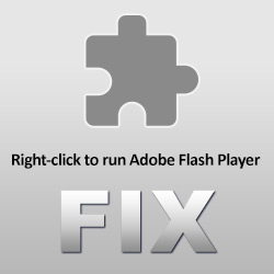 """How to Fix """"Right-click to run Adobe Flash Player"""" or """"Couldn't load plugin"""" Problem With Facebook Games And Other Flash Apps"""